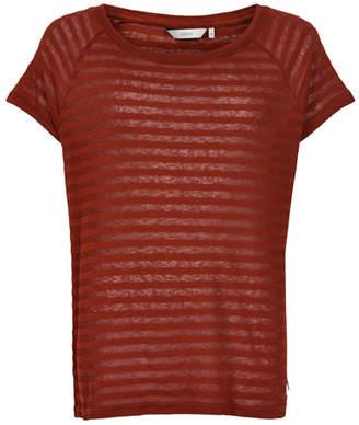 Nümph Fired Burgundy Leanna t-shirt - Size L   burgundy   cotton - Burgundy