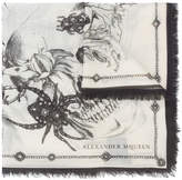 Alexander McQueen spider and skull print scarf