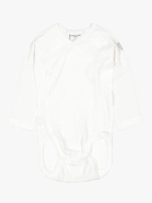 Polarn O. Pyret Baby GOTS Organic Cotton Wraparound Bodysuit, White