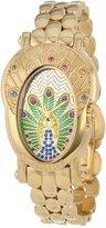 Brillier Women's 18-01 Royal Plume Peacock Inspired Swiss Genuine Gemstones Watch