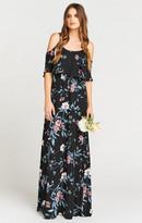 MUMU Caitlin Ruffle Maxi Dress ~ GWSXMumu Wedding Soiree