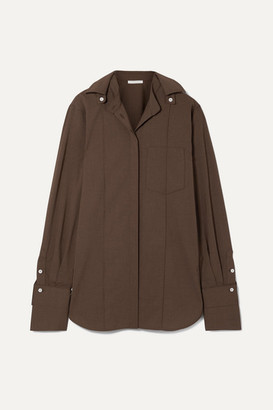 Peter Do - Convertible Voile Shirt - Chocolate