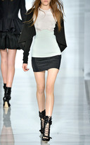 Antonio Berardi Check Jacquard Mini Skirt