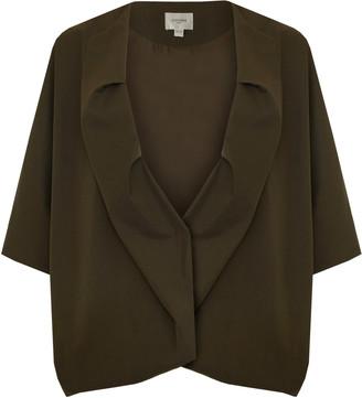Jovonna London Khaki Charleen Oversized Jacket - ONE SIZE - Green