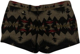 Pendleton Brown Wool Shorts for Women