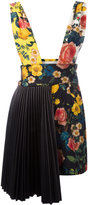 Fausto Puglisi pleated side floral dress - women - Silk/Acetate/Spandex/Elastane/Lamb Skin - 40
