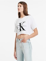 Calvin Klein Womens Boxy Logo T-Shirt