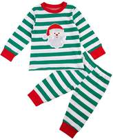 ITFABS Newborn Baby Boy Striped Pajamas Cute Christmas Style Cotton Sleeper Wear