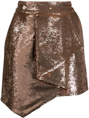 Alexandre Vauthier Inverted Pleat Sequinned Mini Skirt