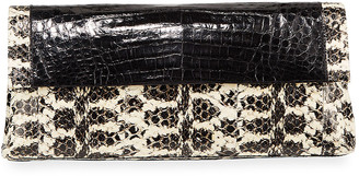 Nancy Gonzalez Gotham Medium Snakeskin/Croc Clutch Bag