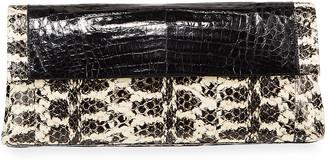 Nancy Gonzalez Gotham Medium Snakeskin/Croc Clutch Bag