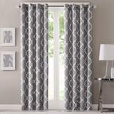 Bed Bath & Beyond Fretwork 95-Inch Window Curtain Panel in Grey