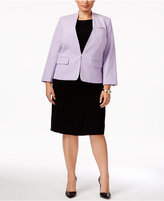 Nine West Plus Size Clasp-Front Blazer