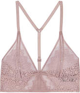Calvin Klein Underwear Excite Stretch-lace And Tulle Soft-cup Triangle Bra - Lilac