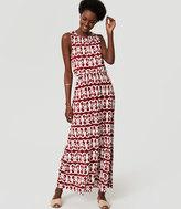 LOFT Vineyard Tie Back Maxi Dress