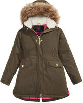 Hawke & Co Mae Embroidered Hooded Parka With Faux-Fur Trim, Big Girls