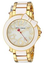 Betsey Johnson Women's Quartz Metal and Alloy Casual Watch, Color:Two Tone (Model: BJ00459-10)