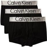 Calvin Klein Underwear Steel Micro 3-Pack Low Rise Trunk (Black) Men's Underwear