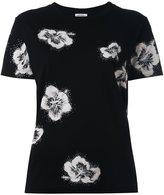 Saint Laurent glitter effect floral jersey