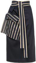 Palmer Harding Palmer / Harding stripe-trimmed wrap skirt