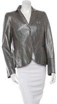 Akris Leather Metallic Blazer