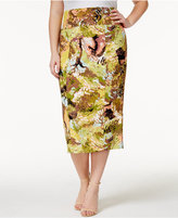 Melissa McCarthy Trendy Plus Size Printed Pencil Skirt