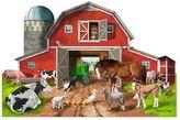 Melissa & Doug Busy Barn Shaped 32-pc. Floor Puzzle