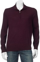 Apt. 9 Big & Tall Modern-Fit Merino Wool-Blend Quarter-Zip Sweater