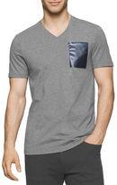 Calvin Klein Solid Foil Pocket V-Neck Tee
