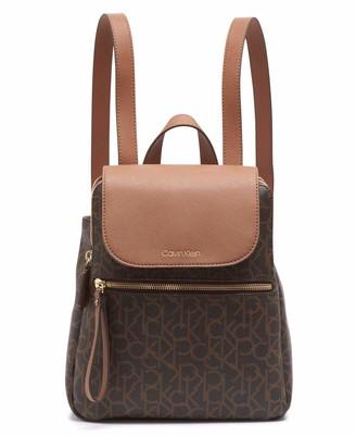 Calvin Klein Elaine Signature Key Item Flap Backpack
