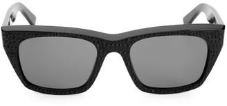 Celine 53MM Textured Square Sunglasses
