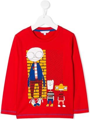 Little Marc Jacobs Cartoon Print Sweater
