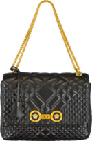 Versace Large Quilted Foldover Chain Bag