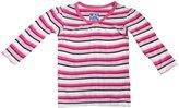 Kickee Pants Print Gathered Tee (Baby) - Winter Rose Stripe-0-3 Months