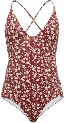 Dodo Bar Or Tata Floral-print Swimsuit - Womens - Red Print