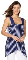 Liz Lange Handkerchief-Hem Striped Tunic Tank