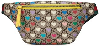 Gucci Kids belt bag with GG motif and hearts