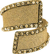 GUESS Gold-Tone Crystal & Glitter Bypass Ring