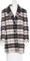 Kate Spade Plaid Notch-Lapel Coat