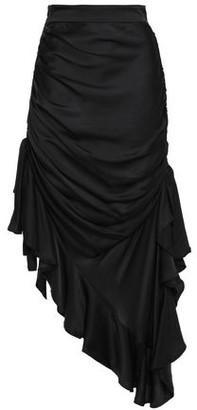 Zimmermann Unbridled Elixir Asymmetric Draped Silk-satin Skirt