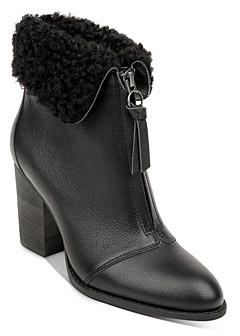 Splendid Women's Kiley Faux Fur Collar High Heel Booties