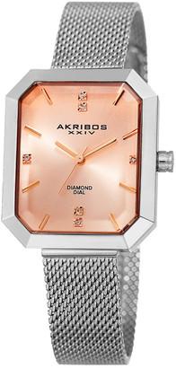 Akribos XXIV Akribos Women's Stainless Steel Diamond Watch