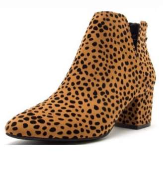 Qupid Animal Print Booties
