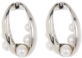 Carolee Twisted Oval Imitation Pearl Embellished Stud Earrings