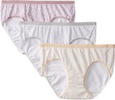 Hanes Women's 3 Pack ComfortBlend Hipsters Panty