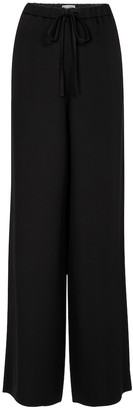 Valentino wide-leg silk cady couture pants
