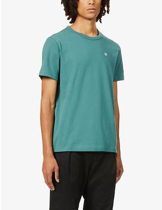 Champion Brand-embroidery cotton-jersey T-shirt