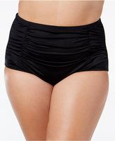 LaBlanca La Blanca Plus Size High-Waist Ruched Bikini Bottoms