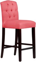 Skyline Tufted Arched Barstool, Linen Coral - Linen Coral