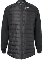 Nike Aeroloft Hyperadapt Stretch-knit And Quilted Shell Golf Jacket - Black